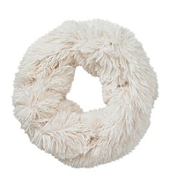 Cejon® White Shaggy Faux Fur Cowl