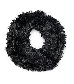 Cejon® Black Shaggy Faux Fur Cowl