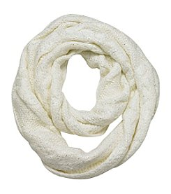 Cejon® Cable Foil Accent Infinity Scarf