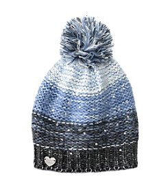Betsey Johnson® Crystal Light Knit Pom Beanie