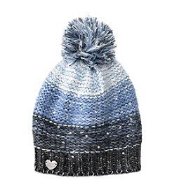 Betsey Johnson® Crystal Light Knit Pom Beanie