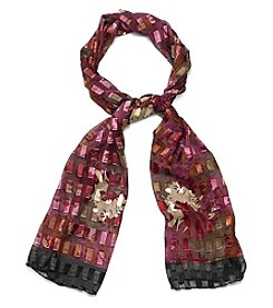 Basha Abstract Peony Oblong Scarf