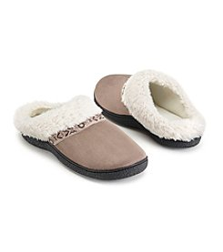 Isotoner Signature® Microsuede Hoodback Slippers