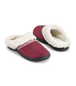 Isotoner Signature® Microsuede Hoodback Slippers