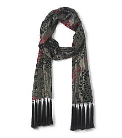 Collection 18 Paisley Velvet Burnout Scarf