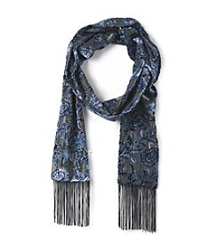 Collection 18 Vine Velvet Burnout Scarf