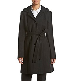 Anne Klein® Hooded Walker Coat