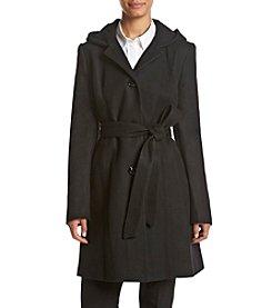Anne Klein® Hooded Walker Coat