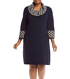 Jessica Howard® Plus Size Sweater Shift Dresss