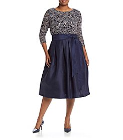 Jessica Howard® Plus Size Pleated Waist Dress