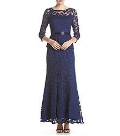 Chetta B. Two Piece Metallic Lace Dress