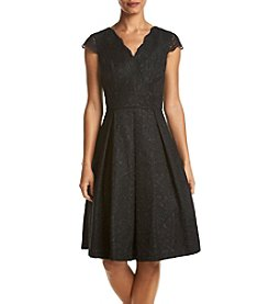 Chetta B. Fit And Flare Lace Dress
