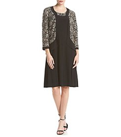 R&M Richards® Textured Jacket Dress