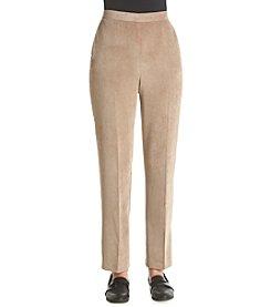 Alfred Dunner® Twilight Point Solid Color Medium Pants