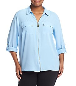 MICHAEL Michael Kors® Plus Size Dog Tag Zip Top