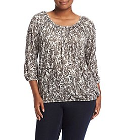 MICHAEL Michael Kors® Plus Size Umbria Lace Peasant Top