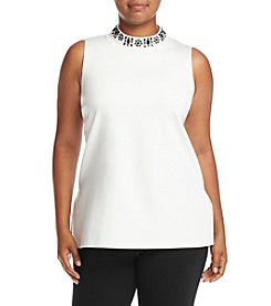 MICHAEL Michael Kors® Plus Size Embellished Split Hem Tunic