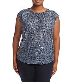 MICHAEL Michael Kors® Plus Size Foil Textured Top