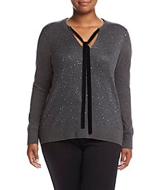 MICHAEL Michael Kors® Plus Size Velvet Sequin Tie Top