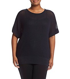 MICHAEL Michael Kors® Plus Size Metallic Dolman Sleeve Sweater