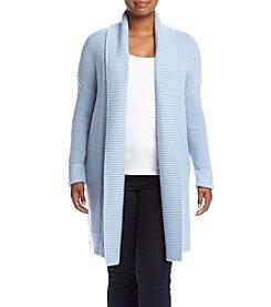 MICHAEL Michael Kors® Plus Size Long Waffle Cardigan