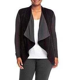 MICHAEL Michael Kors® Plus Size Velvet Drape Front Cardigan
