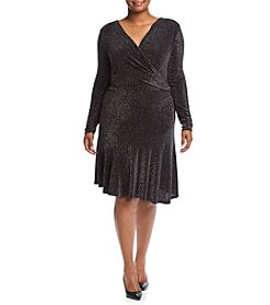 MICHAEL Michael Kors® Plus Size Wrap Flounce Dress