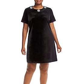 MICHAEL Michael Kors® Plus Size Velvet Shirt Dress