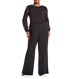 MICHAEL Michael Kors® Plus Size Lace Sleeve Jumpsuit