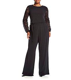MICHAEL Michael Kors® Plus Size Lace Sleeve Jumpsuit