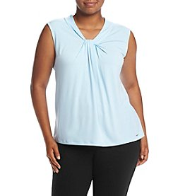 Calvin Klein Plus Size Solid Knot Neck Cami