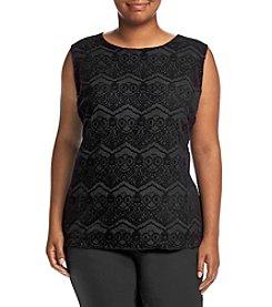 Calvin Klein Plus Size Allover Lace Tank