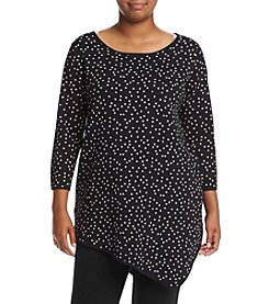 Chelsea & Theodore® Plus Size Scattered Dot Print Tunic