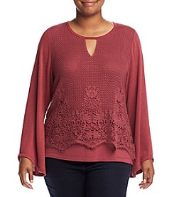 Democracy Plus Size Crochet Overlay Top