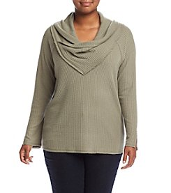 Democracy Plus Size Cowl Neck Cozy Top