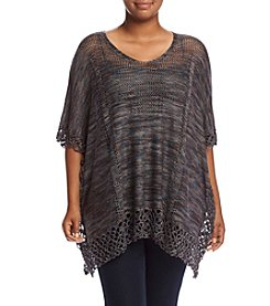 Democracy Plus Size Marled Poncho