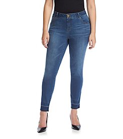 Democracy Plus Size Released Hem Skinny Jeans