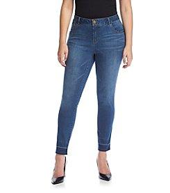Democracy Plus Size Released Hem Skinny Jeans