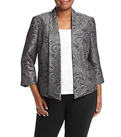 Kasper® Plus Size Jacquard Flyaway Jacket
