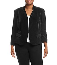 Nine West® Plus Size Velvet Cutout Collar Jacket
