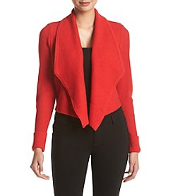 Jones New York® Drape Front Boiled Wool Cardigan