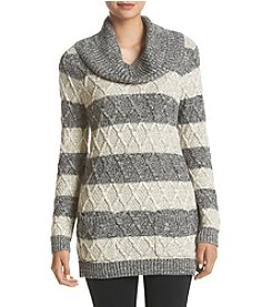 Eight Eight Eight® Stripe Cowl Neck Sweater