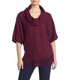Relativity® Cowl Neck Fringe Sweater