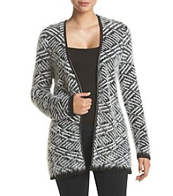 Relativity® Geo Pattern Eyelash Cardigan Sweater