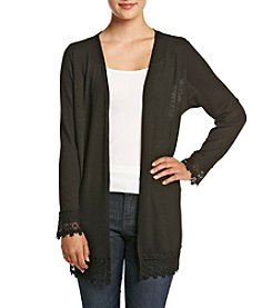 Studio Works® Petites' Cozy Cardigan With Lace