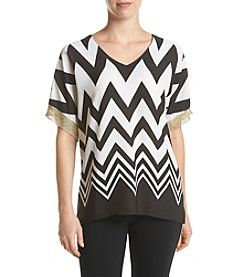 Relativity® Chevron Blouse