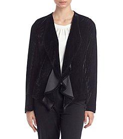 Relativity® Velvet Cascade Front Jacket