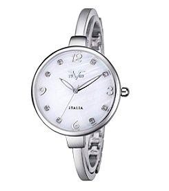 V1969 Women's Abbigliamento Sportivo SRL Silvertone Bangle Watch