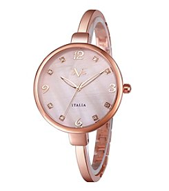 V19.69 Women's Abbigliamento Sportivo SRL Rose Goldtone Bangle Watch