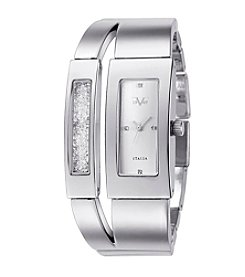 V1969 Women's Abbigliamento Sportivo SRL Silvertone Crystal Watch